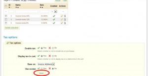 Klicka på Save för att aktivera moms i webshoppen.