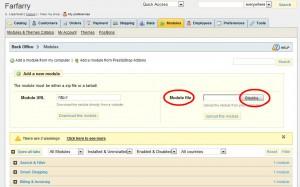 Under Module file klickar du på Bläddra och letar upp filen du laddade ner från Paysons webbplats.