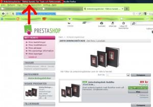 """""""Meta title"""" ärden text som syns  i webbläsarens titelfält."""