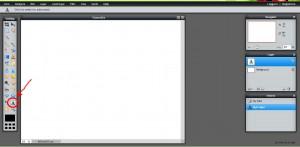 Välj Textverktyg i verktygsfönstret.