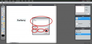 Klicka på bilden och skriv in namnet på webshoppen, välj typsnytt, texttorlek, stil och färg på texten