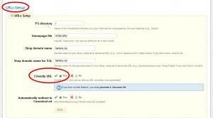 Kryssar i Yes, den gröna bocken,  för Friendly URL.