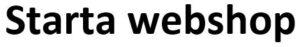 Starta webshop logo