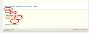 Under Fees hittar du Carrier, välj Posten sidan om Europe fyller du i 0 och klickar på Save.