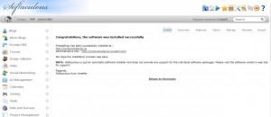 Bekräftelse på att din webshop nu är installerad.