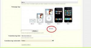 Jag vill helt ta bort iPhone-bilden och klickar därför på Delete under bilden.